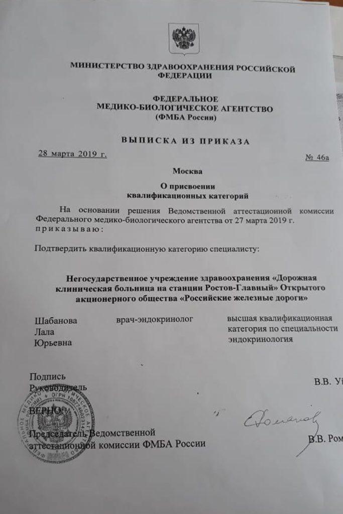 Шабанова эндокринолог